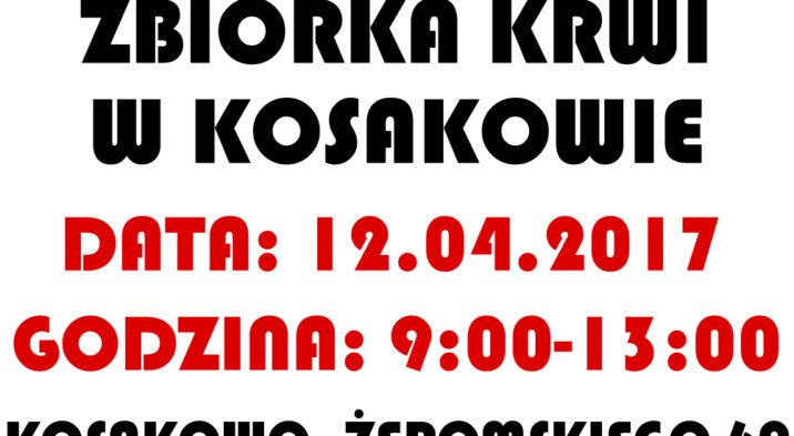 Zbiórka krwi w Kosakowie