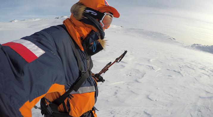 Marcin Gienieczko dokonał podwójnego trawersu największego płaskowyżu w Europie Hardengvide