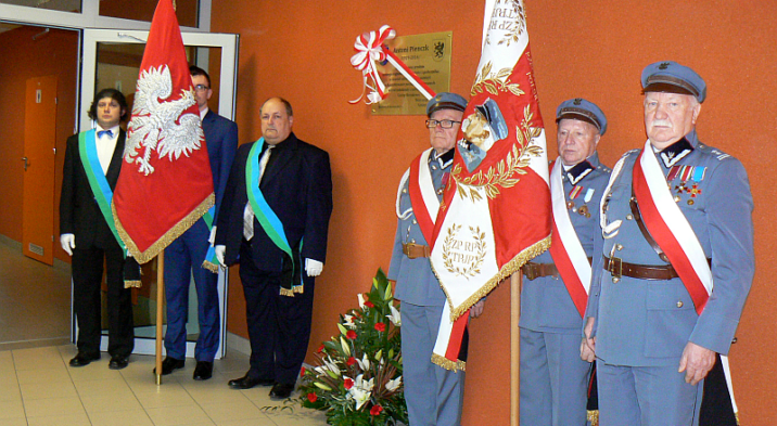 Odsłonięcie tablicy pamiątkowej ś.p. Antoniego Pienczk
