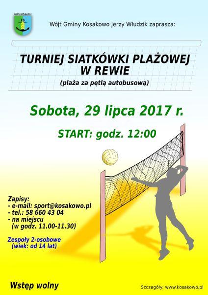 Turniej Siatkówki Plażowej – Rewa 2017