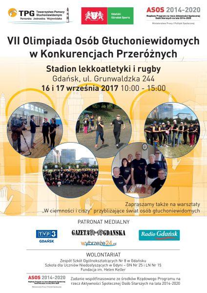 VII Olimpiada Osób Głuchoniewidomych w Konkurencjach Przeróżnych  Gdańsk 2017
