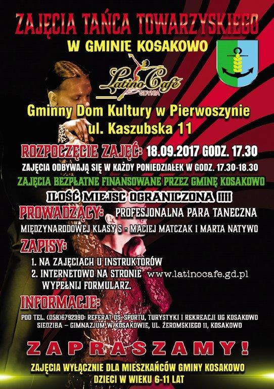 Zajęcia Tańca Towarzyskiego w Gminie Kosakowo