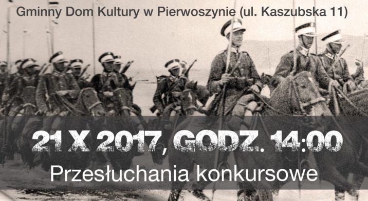 Harmonogram Przesłuchań Konkursowych – XI Festiwal Piosenki Żołnierskiej o Złoty Buzdygan Kosakowo 2017