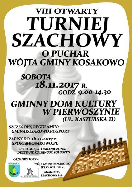 VIII Otwarty Turniej Szachowy o Puchar Wójta Gminy Kosakowo