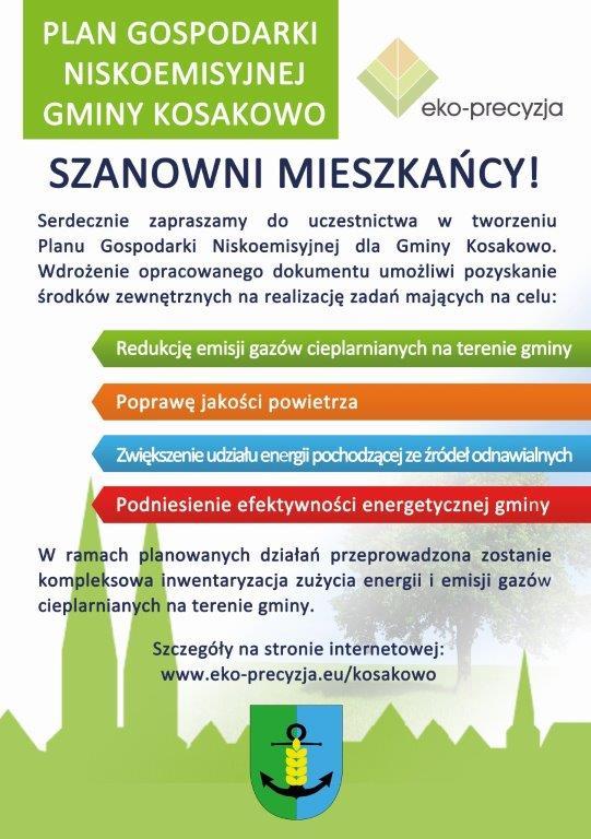 Plan Gospodarki Niskoemisyjnej Gminy Kosakowo