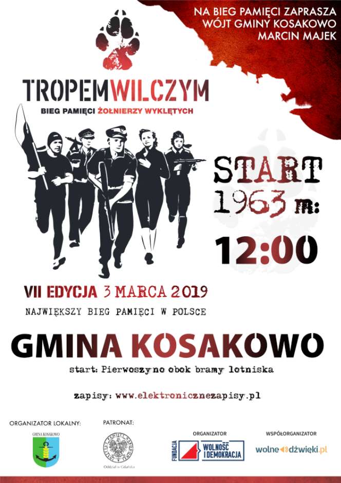 """II edycja """"Biegu Tropem Wilczym"""" w Gminie Kosakowo"""