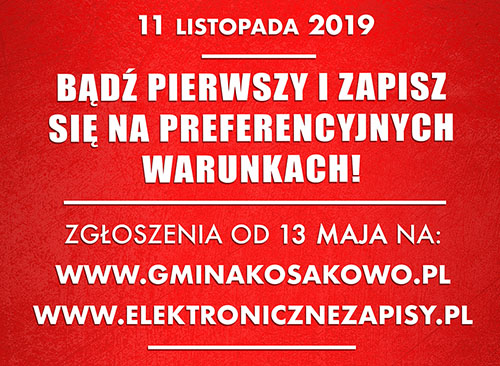 Zapisy – Bieg Niepodległości 11.11.2019