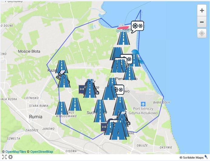 mapa inwestycji gmina kosakowo