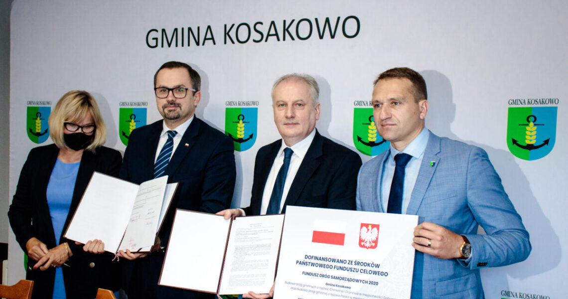 Podpisanie umowy naChmielną/Paska orazkonferencja podsumowująca Rządowy Fundusz Rozwoju Dróg